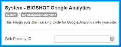 Расширение Joomla - BIGSHOT Google Analytics