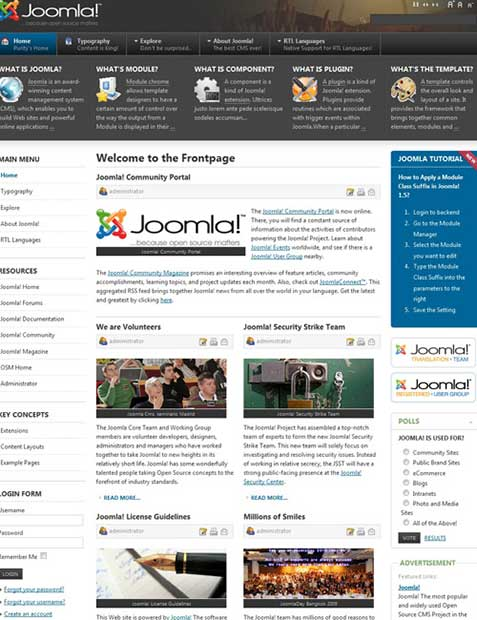 Шаблон Joomla - Purity II